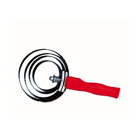 Etrille métallique spirale ronde, à lames réversibles