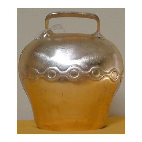 Cloche en acier bombé, coloris bronze 75mm