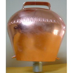 Cloche acier cuivré - 12x13cm - BOVIN
