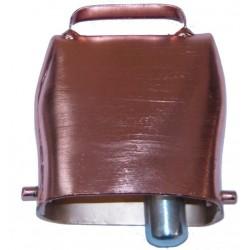 Cloche en acier cuivré 8x9.5cm