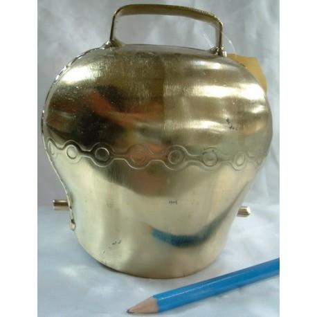 Cloche acier bombé bronze 110mm BOVIN