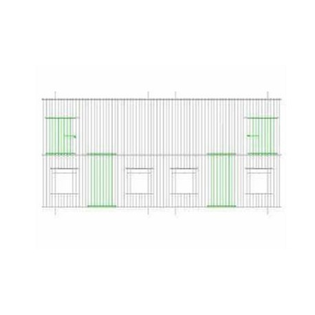 Devanture-façade de cage 100cm x 30cm