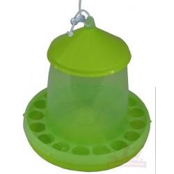 Mangeoire trémie plastique 4kg avec anti-gaspi