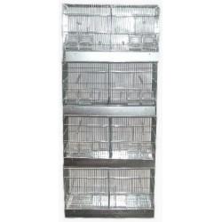 Batterie 8 cases élevage canaris-oiseaux