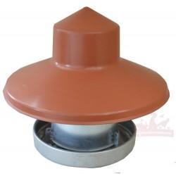 Mangeoire galvanisée 10kg avec couvercle anti-pluie