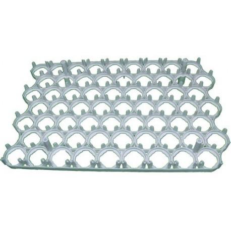 Plaque a oeufs - Grille alvéole plastique - 63 oeufs