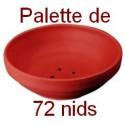 NID PIGEON en terre cuite - Palette de 72