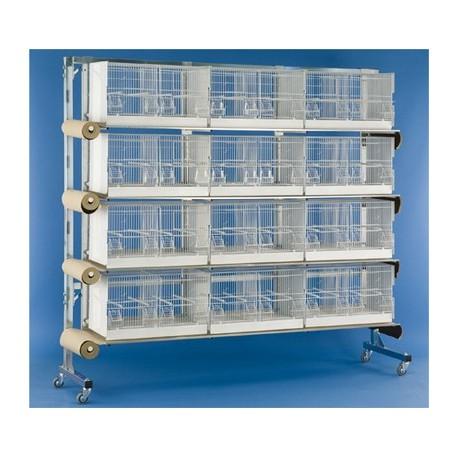Batterie Economique Oiseaux 12 cages