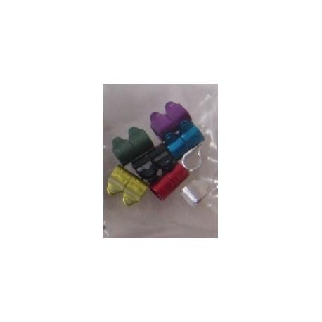 Bagues métal 2.5mm7 couleurs - LOT DE 14 bagues