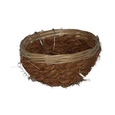 Nid canaris en bambou et coco avec crochet