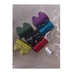 Bagues métal 4mm 7 couleurs - LOT DE 14 bagues