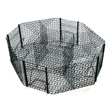 Piège à pie, corbeau ou pigeon Octogonale - 4 cases