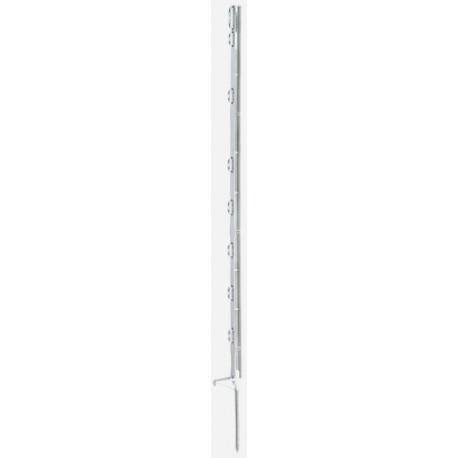 Piquet fibré blanc en PVC 105cm 8 isolateurs
