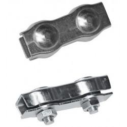 Connecteur de fil chromée 6mm - Lot de 10