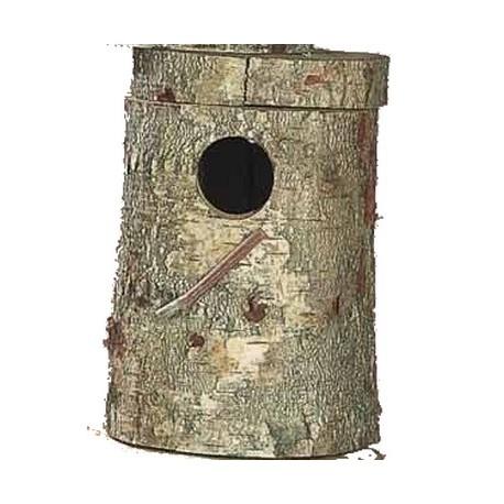 Nid - bûche véritable tronc pour callopsites, +/-34cm