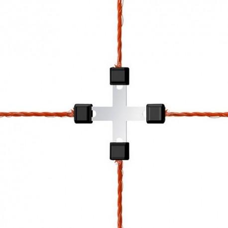 """Connecteur LITZCLIP """"CROIX"""" pour la réparation de clôture - x5"""