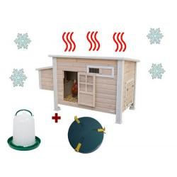 Poulailler chauffant - Poulailler en bois avec chauffage - Poulailler chauffant pour poule - poulailler emma - KERBL