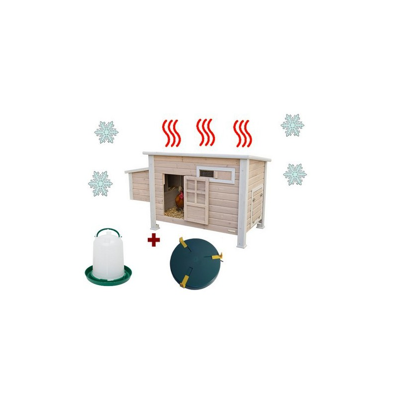 Poulailler en bois avec syst u00e8me de chauffage La Ferme de Manon # Bois Blanc Chauffage