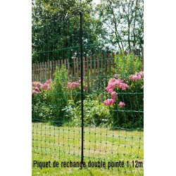 Piquet de rechange double pointe 1.12m