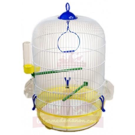 Cage oiseaux ronde ACACIA avec bac transparent