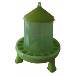 MANGEOIRE plastique 4kg avec trous anti-gaspi verte sur pied