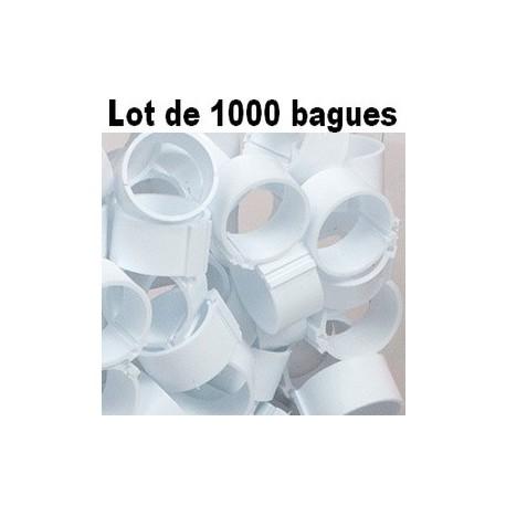 Bagues à clip 18mm - BLANC - LOT DE 1000