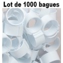 Bagues à clip 18mm - BLANC - LOT DE 1000