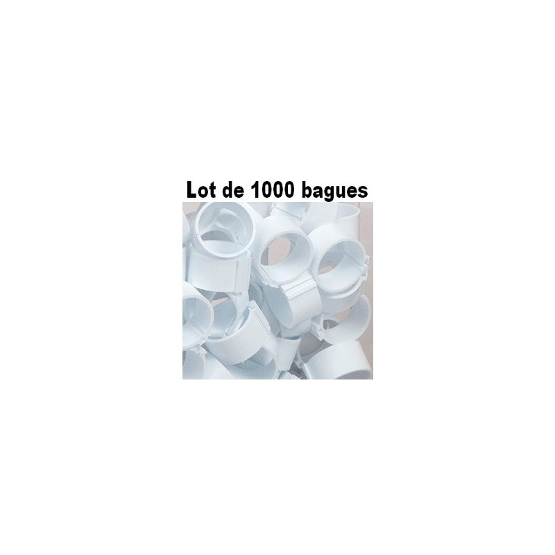 bagues clip 18mm blanc lot de 1000 la ferme de manon. Black Bedroom Furniture Sets. Home Design Ideas