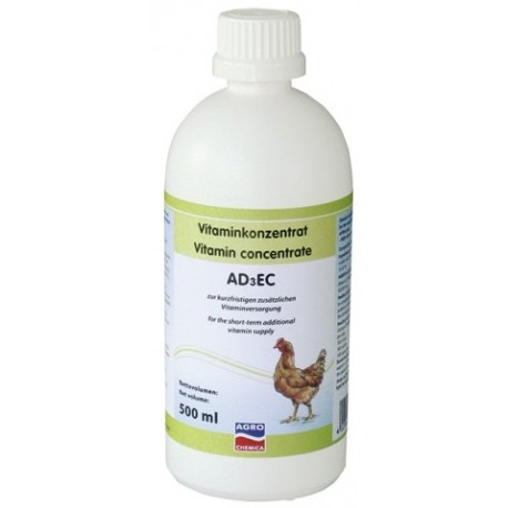 Vitamines AD3EC Volaille - Bouteille de 500ml