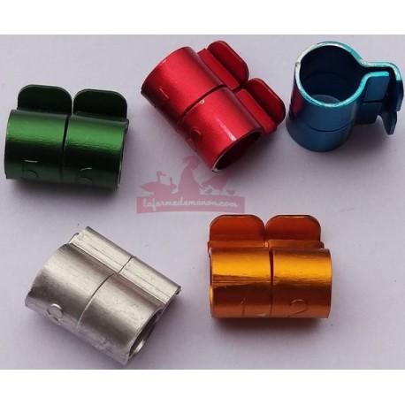 Bagues métal 6mm - 5 couleurs - LOT DE 10 bagues