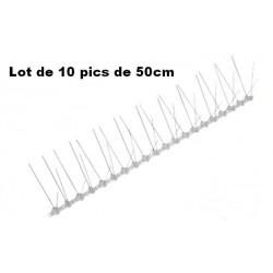 Pic Anti-Pigeon métal 50cm - Lot de 3