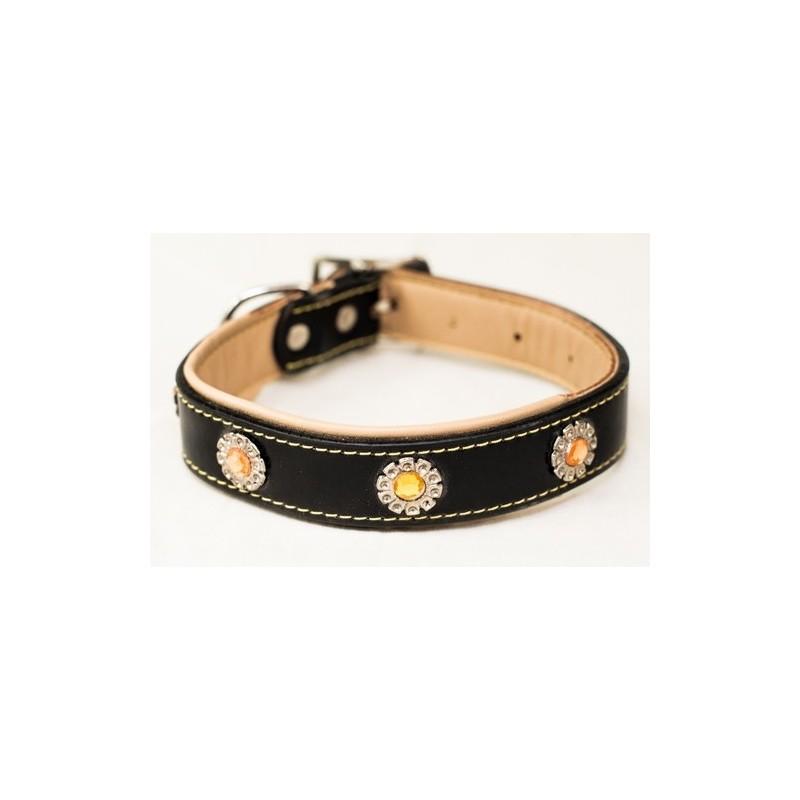 prix abordable marque célèbre dernières tendances Collier pour chien en simili cuir 36cm x 2.5cm