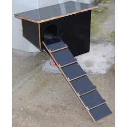 NICHOIR / CHICANE A CANARD toit en biais