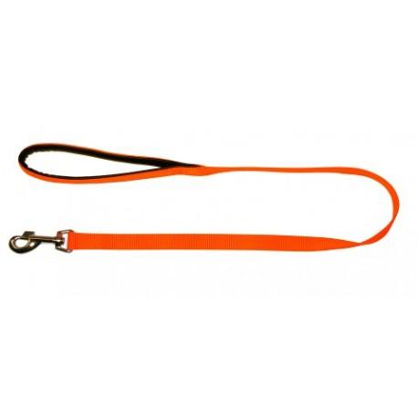 Laisse nylon orange fluo