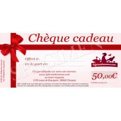 Chèque cadeau - 50eur