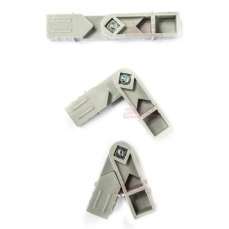 Raccord orientable pour panneaux aluminium