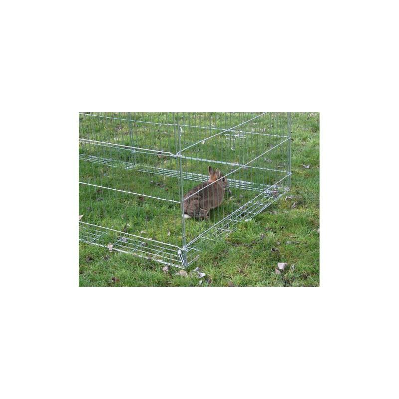 Dispositif anti fugue pour enclos parc ext rieur avec for Parc pour lapin exterieur