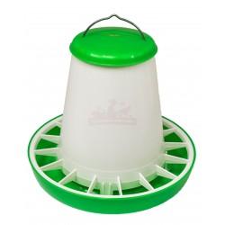 MANGEOIRE plastique 6kg verte avec couvercle - Qualité Professionnelle