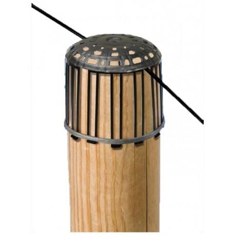 Couvre piquet de fixation câble pour filet