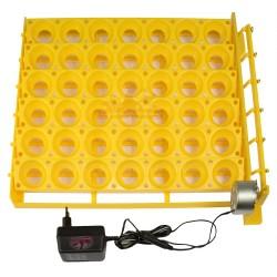 Système de retournement avec moteur et grille multi-oeufs