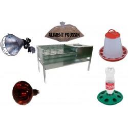 Eleveuse - Cage Poussin avec reflecteur TRANSPORT OFFERT