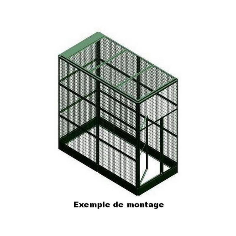 panneau voli re avec petite porte maille 12x12 la ferme de manon. Black Bedroom Furniture Sets. Home Design Ideas