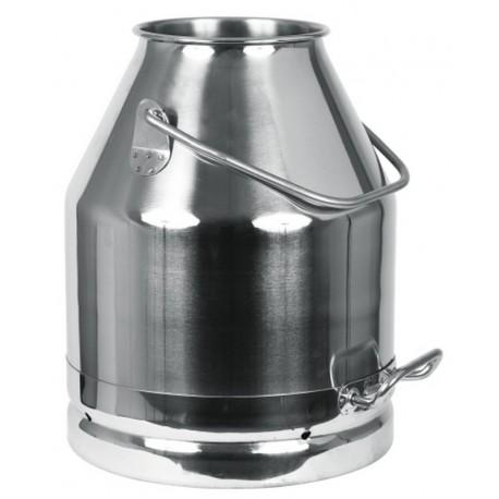 Seau à lait en acier inoxydable 25L - TRANSPORT OFFERT