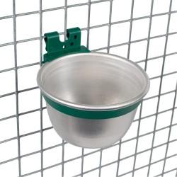 Bol mangeoire / abreuvoir en aluminium rond 250ml