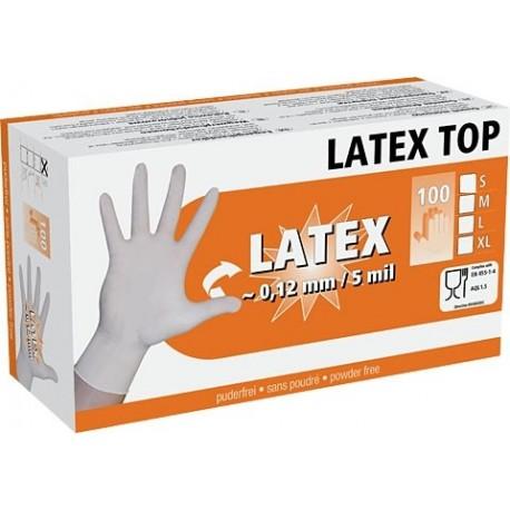 Gant à usage unique en latex - Boite de 100