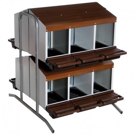 Pondoir 12 cases avec cuvette + collecteur - TRANSPORT OFFERT