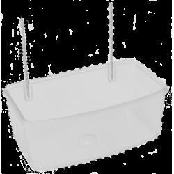 Mangeoire rectangle avec crochet