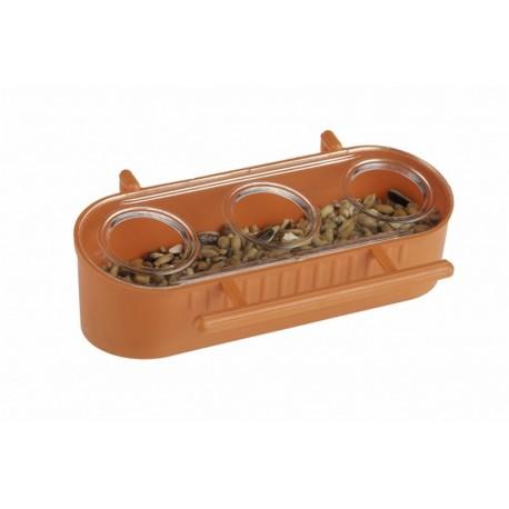 Mangeoire anti-gaspillage - 3 trous