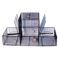 Trébuchet 3 compartiments pour oiseaux