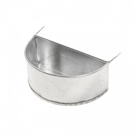 Abreuvoir - Mangeoire demi-lune en galva